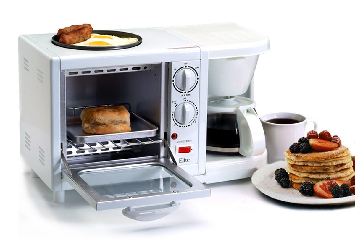 3 In 1 Breakfast Station Toaster Coffee Griddle