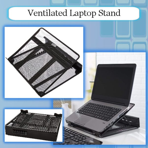 AmazonBasics Ventilated Adjustable Laptop Stand - BSC Promo Image
