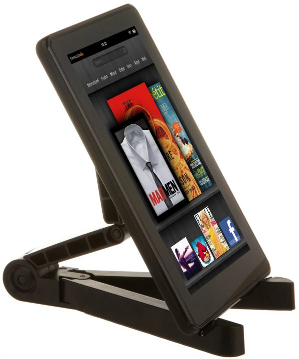 AmazonBasics Tablet Stand supports the Kindle Fire, Apple iPad, and many other tablets and Ereaders