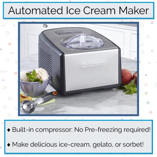 Cuisinart ICE-100 Electronic Ice Cream Maker with Built-In Compressor