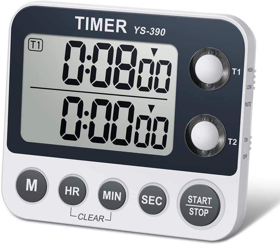 Dual Kitchen Timer - Digital Large Display
