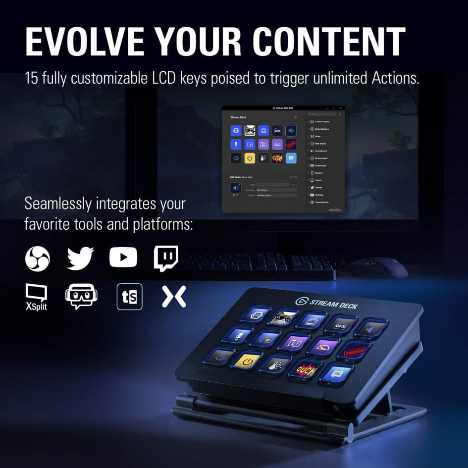 Elgato Stream Deck Programmable LCD Keyboard