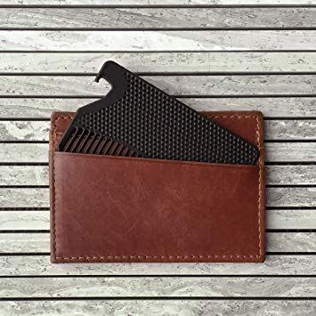 Go Comb - Metal Wallet Comb and Bottle Opener