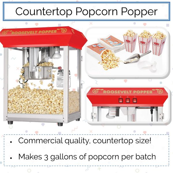 Great Northern Roosevelt Countertop Popcorn Popper Machine - BSC Promo Image