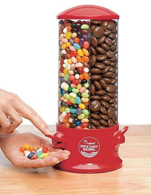 Handy Gourmet Triple Candy Machine - Dispensing Jelly Beans
