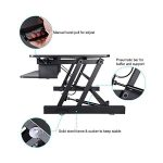 Lorell Sit-To-Stand Monitor Riser - Features Diagram