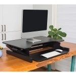 Lorell Sit-To-Stand Monitor Riser - In Collapsed Position