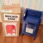 Metal Mailbox Piggy Bank by Rhode Island Novelty - Blue - With Retail Box