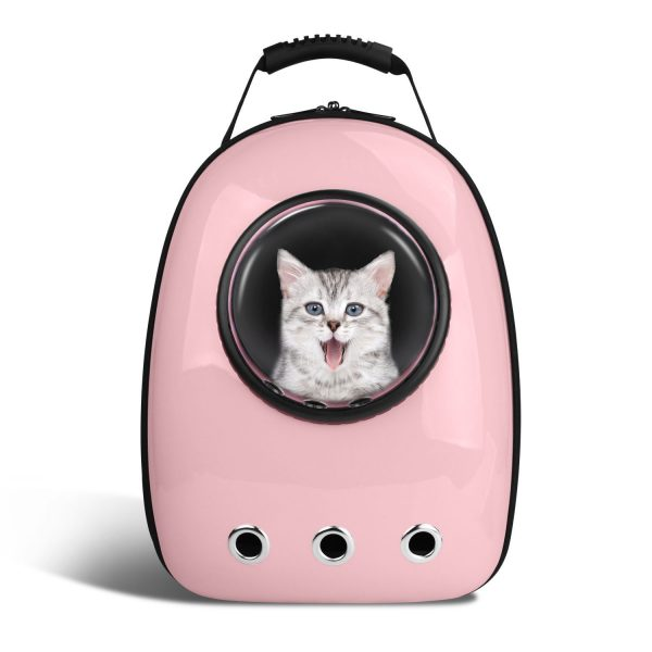 Pet Capsule Carrier Backpack - Pink Design - Cat