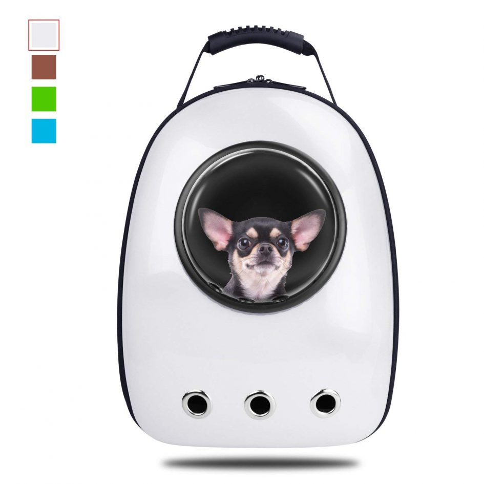 Pet Capsule Carrier Backpack - White - Small Dog