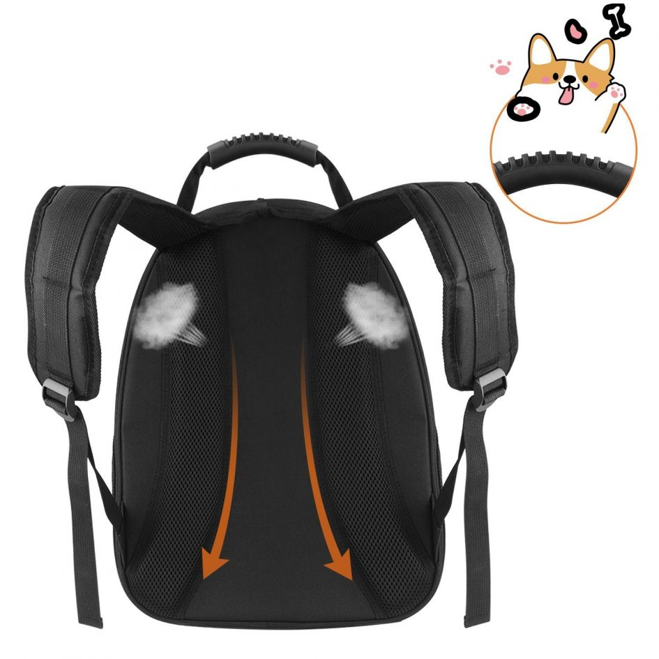 Pet Space Capsule Carrier Backpack - Breathable Back