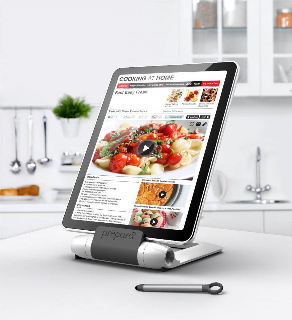 Prepara iPrep Tablet Stand in Kitchen
