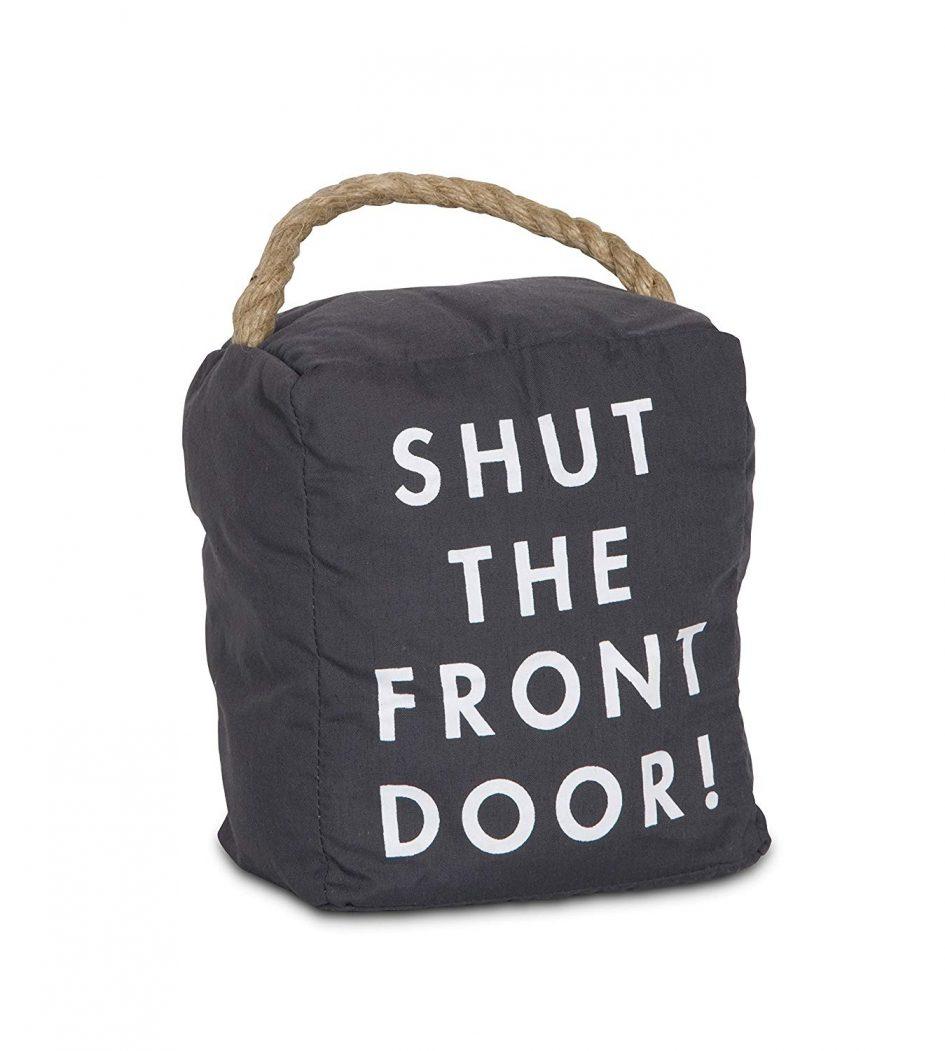 Shut the Front Door - Weighted Door Stopper With Handle