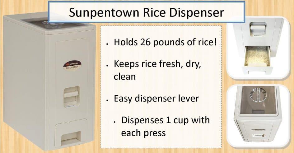 Sunpentown SC-12 26 Pound Rice Dispenser - BSC Promo Image