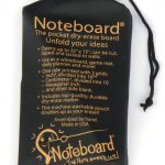 The Noteboard Pocket Sized Double Sided Dry Erase Togo Bag