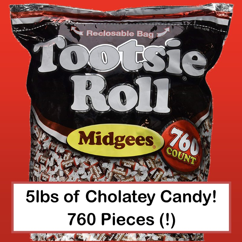 Tootsie Roll Midgees - Value 5lb Bag of 760 Pieces