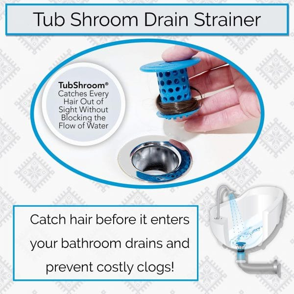 Tub Shroom Drain Strainer and Hair Catcher - Prevent Clogs