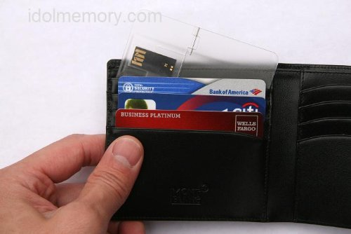 Credit Card USB Drive in Wallet