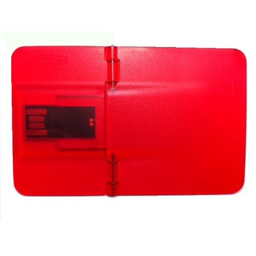 Red Credit Card USB Drive