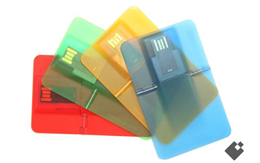 Multicolored Clear Credit Card USB Drives